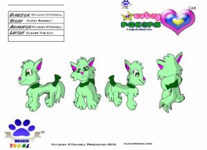 Clover Cat Character Sheet Colored