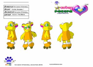 Sunny Bear Character Sheet Colored